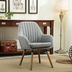 Roundhill Furniture Tuchico Contemporary Fabric Accent Chair, Gray, Chair, Gray