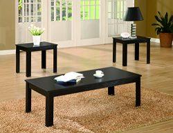 Coaster Home Furnishings Transitional Living Room 3 Piece Set, Black