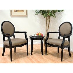 Best Master Furniture KF0012 Traditional Living Room Accent Chair & Table Set