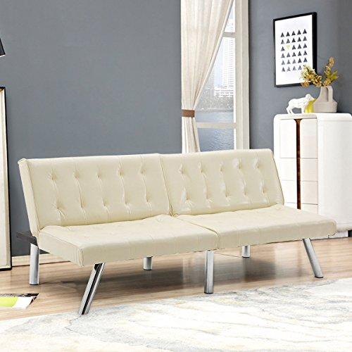 giantex futon sofa bed convertible couch folding splitback recliner sleeper lounger modern pu le   giantex futon sofa bed convertible couch folding splitback      rh   gvdesigns