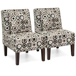 Best Choice Products Set of 2 Living Room Furniture Armless Accent Chairs w/ Pillows – Geo ...
