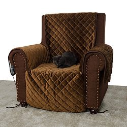 Furry Buddy Quilted Luxury Velvet Pet Recliner Cover, Water Resistant Furniture Cover, Stay Put  ...