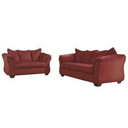 Flash Furniture Signature Design by Ashley Darcy Living Room Set in Salsa Microfiber