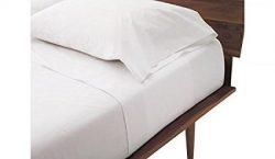 Twin Sleeper Sofa Bed Sheet Set White (36″x72″x6″) , White Plain Color, 100 %  ...