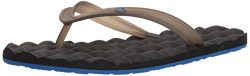 Volcom Men's Recliner Rubber 2 Flip Flop Sandal, Blue/Black, 10 M US
