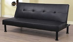 Star Home Furniture Raphael Futon Convertible Sofa Bed, Black