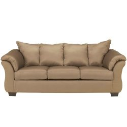 Ashley Furniture Signature Design – Darcy Contemporary Microfiber Sofa – Mocha