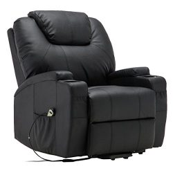 BUY JOY Electric Lift Power Recliner Chair Heated Massage Sofa Lounge With Remote Control