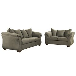 Flash Furniture Signature Design by Ashley Darcy Living Room Set in Sage Microfiber