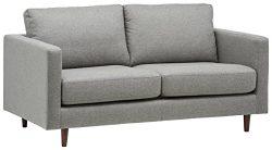 Rivet Revolve Modern Sofa Bed, 70″ W, Grey Weave