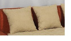 Quilted Beige 20×20″ Bonded or Classic Micro Suede Sofa Cushion Case or Sofa Arm Cove ...