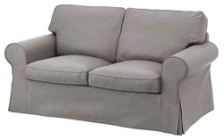 The Ektorp Two Seater Sofa Bed Cover Replacement IS Custom Made For Ikea Ektorp 2 Seater Sleeper ...