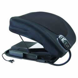Carex Health Brands Premium Power Lifting Seat, Black, 17 Inches
