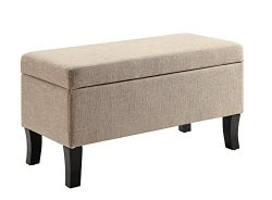Convenience Concepts Designs4Comfort Winslow Storage Ottoman Tan Fabric