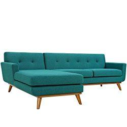 Modway EEI-2068-TEA-SET Engage, Left-Facing Sectional Sofa, Teal