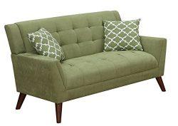 Furniture World Mid Century Love Seat, Sage