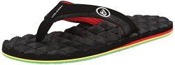 Volcom Men's Recliner Flip Flop, Jah, 12 M US
