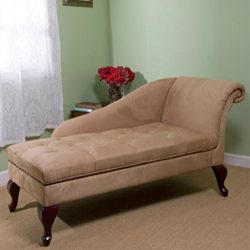 Modern Storage Chaise Lounge Chair – This Tufted Cushions is Microfiber Upholstered &#8211 ...