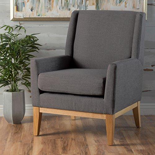 Archibald Mid Century Modern Fabric Accent Chair Grey