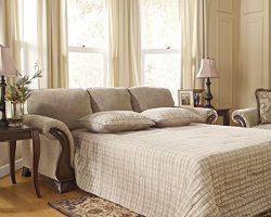 Ashley Furniture Signature Design – Lanett Sleeper Sofa – Queen – 3 Seat Tradi ...