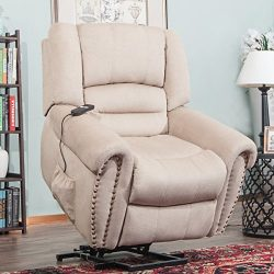 Harper&Bright Designs Wilshire Series Power Lift Recliner Chair with Heavy Duty Reclining Me ...