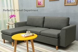 Sectional Sofa, L-Shape Sectional Couch with Reversible Chaise, Couches and Sofas with Modern Li ...