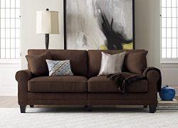 Serta RTA Copenhagen Collection 78″ Sofa in Rye Brown