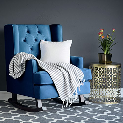 Top Bedroom Chairs Choices: Best Choice Products Tufted Luxury Velvet Wingback Rocking
