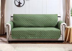Argstar Loveseat Slipcover Profession Pet Protector Reversible Green/Sage by