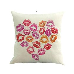 Cushion Cover Home Decor, Leyorie Valentine's Day Heart Shape Fashion Throw Pillow Cases C ...