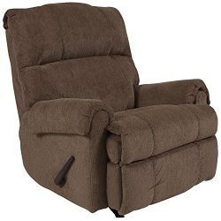 Flash Furniture Contemporary Kelly Bark Super Soft Microfiber Rocker Recliner