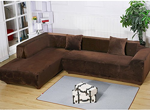 Getmorebeauty L Shape Sectional Thick Plush Velvet Couch