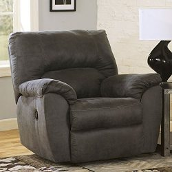 Ashley Furniture Signature Design – Tambo Rocker Recliner – Pull Tab Manual Reclinin ...
