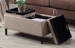 Convenience Concepts 143042T Designs4Comfort Storage Ottoman, Tan