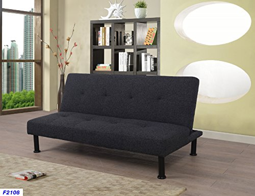 Beverly Fine Furniture F2108 Convertible Futon Sofa Bed