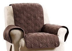 Sure Fit SF44835 Deluxe Non Skid Waterproof Pet Recliner Furniture Cover – Chocolate