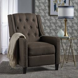 Ingrid Recliner Chair | Perfect for Living Room, Office | Nail Head Accent | Upholstered in a Co ...