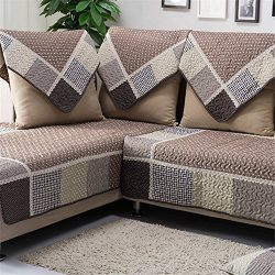 OstepDecor Multi-size Pet Dog Couch Sectional Quilted Cotton Furniture Protectors Covers for Sof ...