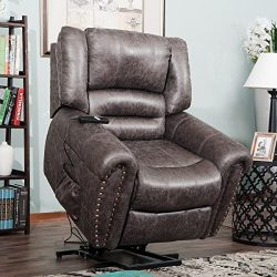Harper&Bright Designs Wilshire Series Power Lift Recliner Chair with Heavy Duty Lifting Mech ...