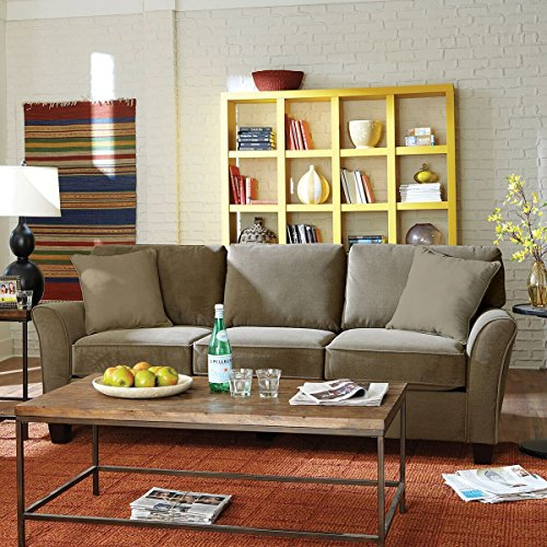 SoFab Muse II Three-Seat Sofa with Reversible Seat Cushions & Back Pillows Plus Two Reversib ...