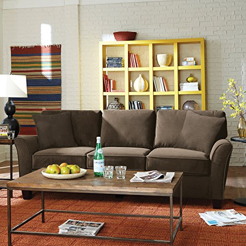 SoFab Muse II Three-Seat Sofa with Reversible Seat Cushions & Back Pillows Plus Two Reversib ...
