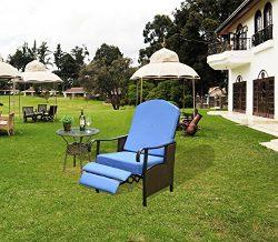 Homebi Recliner Chair Adjustable Lounge Chair Garden Armchair Patio Seating Furniture Indoor /Ou ...