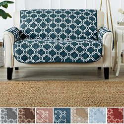 Home Fashion Designs Adalyn Collection Deluxe Reversible Quilted Furniture Protector. Beautiful  ...