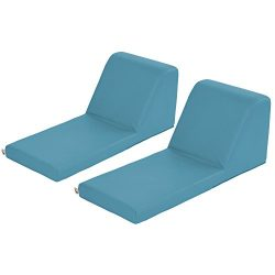 ECR4Kids SoftZone Chaise Lounge Soft Foam Lounger for Kids, Seafoam (2-Piece)