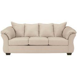 Ashley Furniture Signature Design – Darcy Contemporary Microfiber Sofa – Stone
