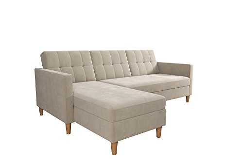 Dhp Hartford Storage Sectional Futon With Interchangeable
