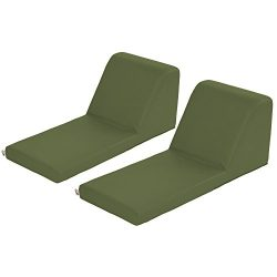 ECR4Kids SoftZone Chaise Lounge Soft Foam Lounger for Kids, Hunter Green (2-Piece)