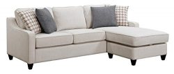 Scott Living Montgomery Cream Sectional Sofa with Accent Pillows