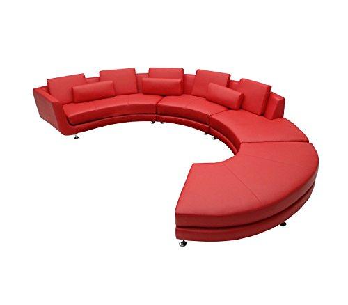 Limari Home LIM-11082 Jayden Sectional Sofa, Red