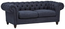 Stone & Beam Bradbury Chesterfield Tufted Sofa, 79″ W, Navy